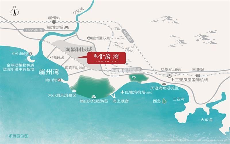 三亚·金茂湾区位图