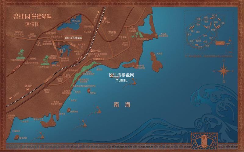 碧桂园兴隆湖畔区位图